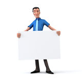 Businessman holding white board Royalty Free Stock Photos
