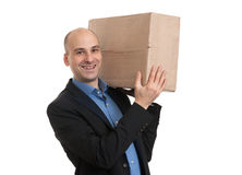 Businessman holds the parcel Stock Photography
