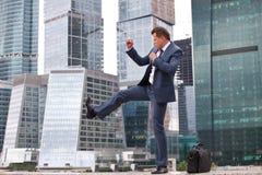 Businessman holds training session Royalty Free Stock Photo