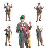 Businessman and holiday. Collage Stock Image