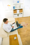 businessman home office working Στοκ φωτογραφίες με δικαίωμα ελεύθερης χρήσης