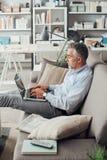 businessman home working Στοκ φωτογραφίες με δικαίωμα ελεύθερης χρήσης