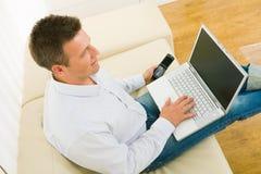 businessman home working Στοκ φωτογραφία με δικαίωμα ελεύθερης χρήσης