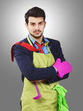 Businessman and homemaker mix Royalty Free Stock Photo