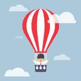 Businessman in hot air balloon Royalty Free Stock Photography