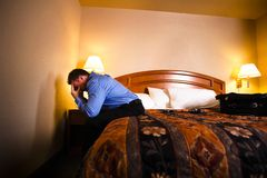 Businessman In Hotel Room Royalty Free Stock Image
