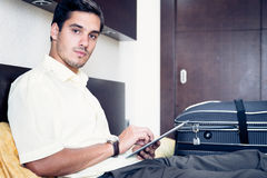 Businessman In Hotel Room Stock Photos