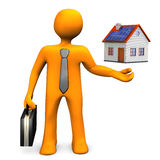 Businessman House Royalty Free Stock Photography