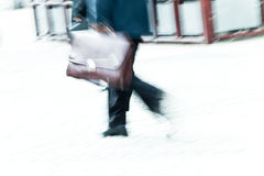 Businessman in a hurry Royalty Free Stock Photo