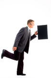 Businessman in hurry with briefcase Stock Image