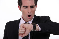 Businessman in a hurry Royalty Free Stock Photos