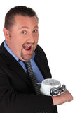 Businessman in a hurry Stock Image