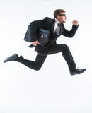 Businessman in a hurry Stock Photos