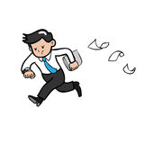 Businessman hurry Stock Photography