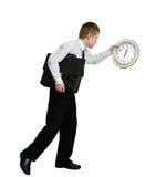 Businessman hurrying Stock Photos