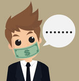 Businessman hush money Royalty Free Stock Photography