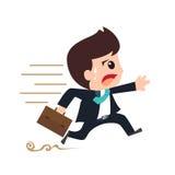 Businessman hustle running cartoon Royalty Free Stock Images