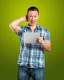 Businessman With I Pad Royalty Free Stock Photography
