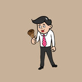 Businessman ice cream Royalty Free Stock Image