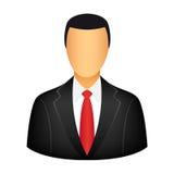 Businessman icon. Isolated on white background Stock Images