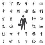 Businessman Icon. vector illustration
