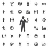 Businessman Icon on white background. Businessman Icon. Business icons set Stock Photos