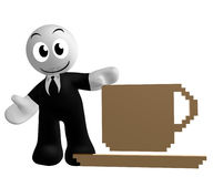 Businessman icon with coffee cup symbol Stock Image