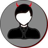 Businessman icon, devil Stock Photography