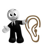 Businessman icon with ear symbol Stock Photos