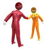 Businessman icon handshake. 3d illustration Royalty Free Stock Images