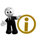 Businessman icon with information symbol Royalty Free Stock Photography