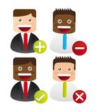 Businessman icons Stock Photos