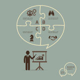 Businessman icons presentation. Royalty Free Stock Image