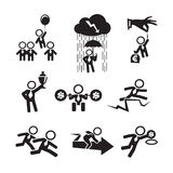 Businessman icons set. Authors illustration in vector Stock Image