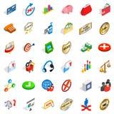 Businessman icons set, isometric style. Businessman icons set. Isometric style of 36 businessman vector icons for web isolated on white background vector illustration