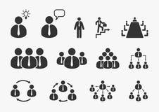 Businessman icons set. Office, business, management, human resource Stock Photos