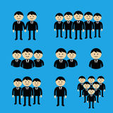 Businessman Icons set. Team Icons. Crowd of people Royalty Free Stock Image