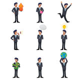 Businessman icons Royalty Free Stock Photography