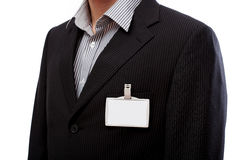 Businessman with ID to put your text here Royalty Free Stock Images