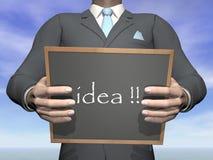Businessman idea - 3D render. Businessman idea written on blackboard - 3D render Stock Image