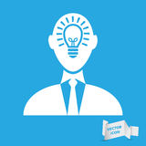 Businessman with idea in head icon. Illustration vector illustration