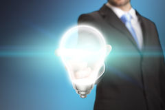 Businessman Idea lightbulb concept Stock Photos