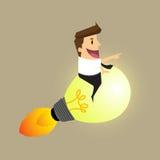 Businessman Idea rocket Stock Images