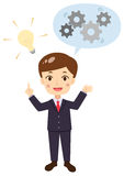 Businessman with an idea, solution, answer Royalty Free Stock Photo