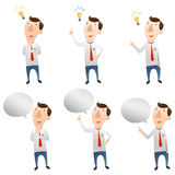 Businessman with idea and speech bubble. There is businessman with idea and speech bubble Royalty Free Stock Images