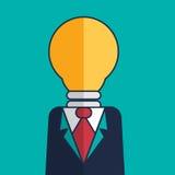 Businessman idea. Vector cartoon businessman idea success Stock Photography