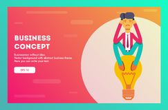 Business concept. Vector illustration. stock illustration