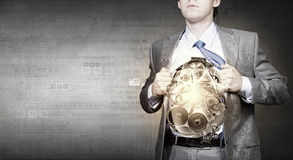 Businessman and idea Stock Photography