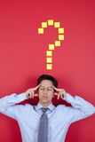 Businessman ideas. Businessman thinking a great idea Stock Photo