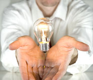 Businessman ideas. Businessman with an idea. Brainstorming concept Royalty Free Stock Photography